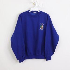 90s Mens Medium London England Crest Sweatshirt